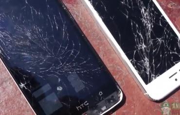 HTC One vs iPhone 5 - Drop Test