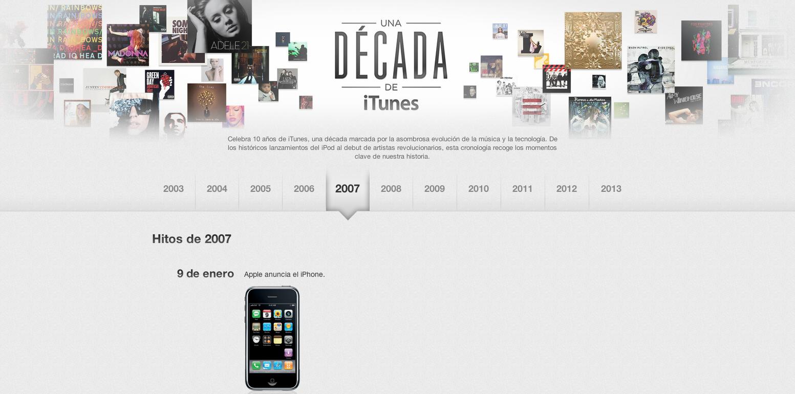 iTunes Decimo Aniversario