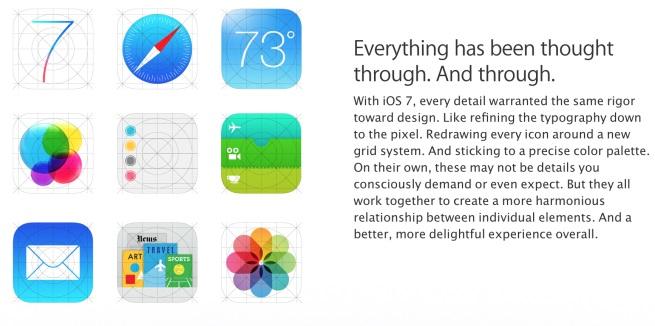 Screenshot Apple Icons iOS 7