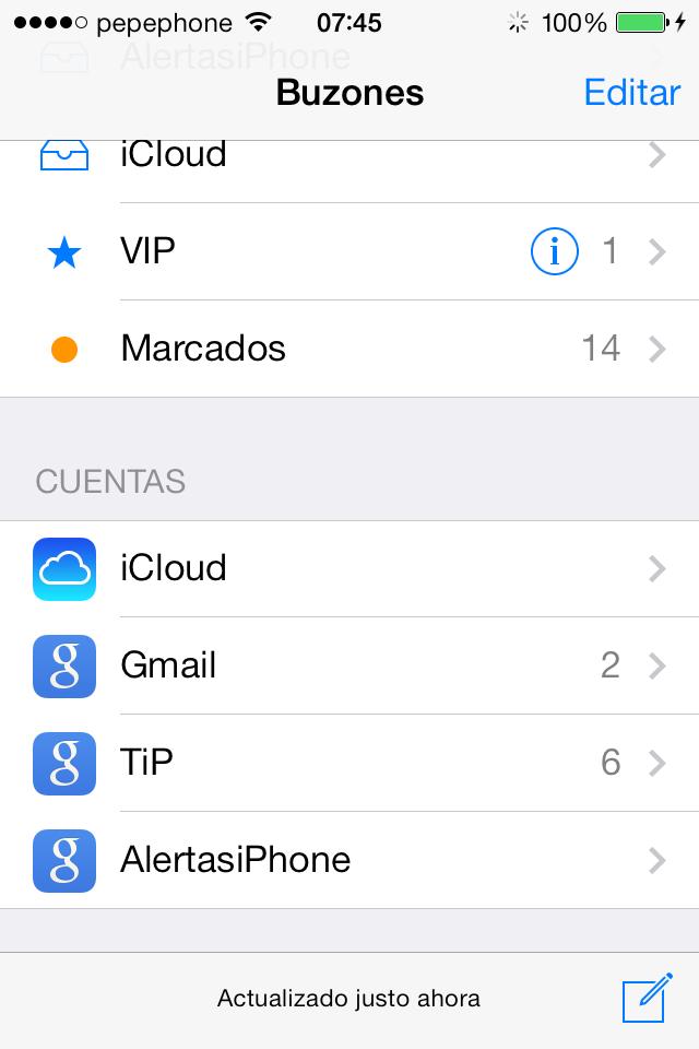 iOS 7 Beta 4 Iconos Mail