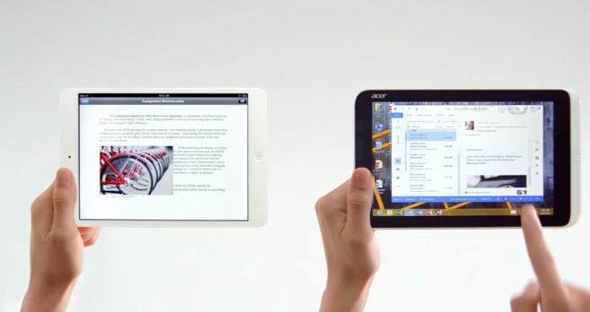Microsoft Ataca iPad mini