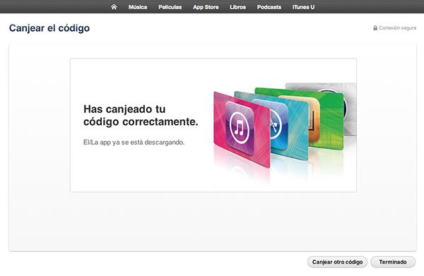 Como Canjear Promo Condes iTunes - 1