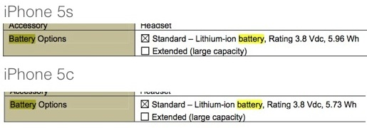 iPhone 5C iPhone 5S Bateria