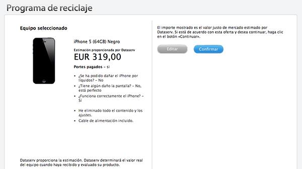 iPhone 5 - Programa de Reciclaje