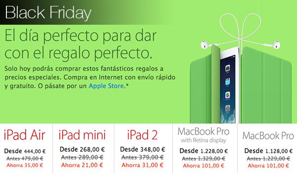 Black Friday Apple 29 Nov Descuentos