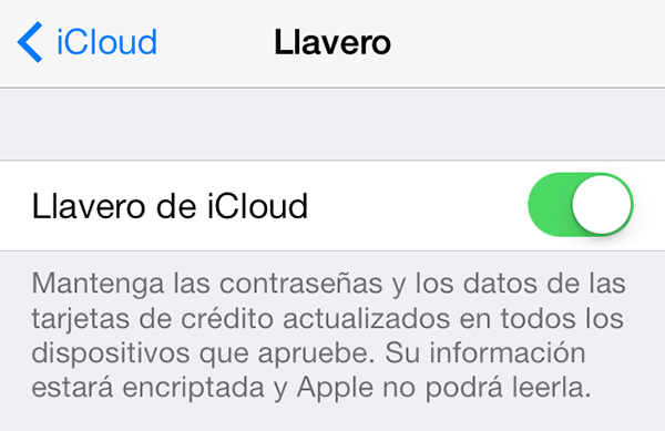 Configurar Llavero iCloud iPhone y iPad - 5