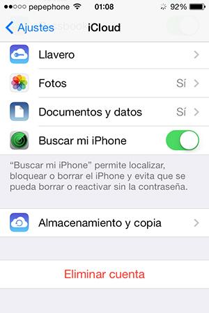 Habilitar Buscar mi iPhone en iPhone iPad - screenshot 2