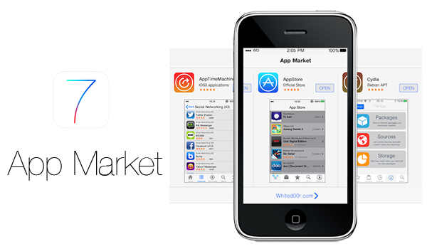 App Market WhiteD00r iOS 7 iPhone 3G