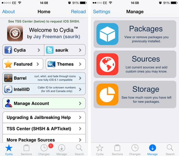 Cydia IU iOS 7