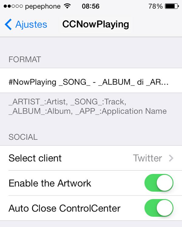 CCNowPlaying-Ajustes