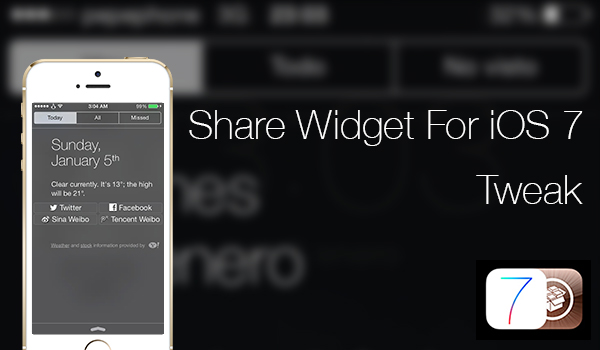Share Widget for iOS 7 - Tweak