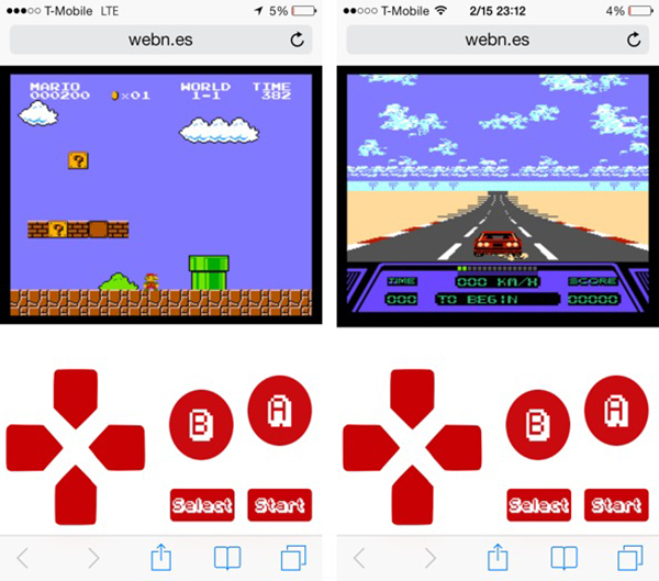 webNES Games iPhone iPad