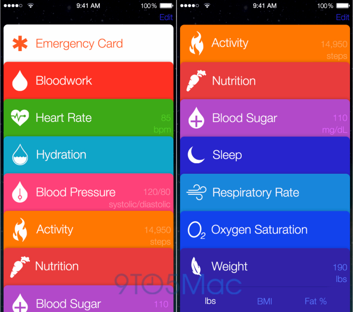 Healthbook Book - iOS 8 Rumor