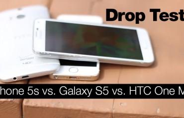 iPhone 5s GS5 HTC One M8 - Test Caidas