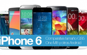 iPhone-6-tamaño-GS5-One-M8-Android