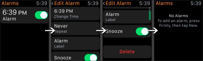 como-borrar-eliminar-alarmas-clasico-apple-watch