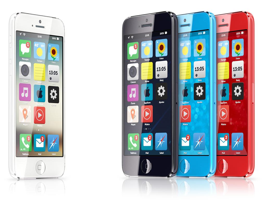 Otro Concepto Minimalista del iPhone Low Cost con iOS 7 - 1