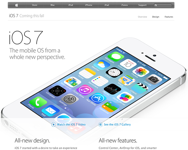 Apple iOS 7 Official Page