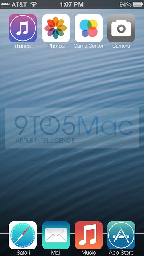 Homescreen iOS 7 Concept