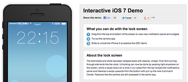 iOS 7 Demo Interactivo