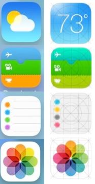 iOS 7 Iconos Final vs Beta