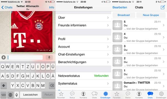 WhatsApp iOS 7 screenshots 2