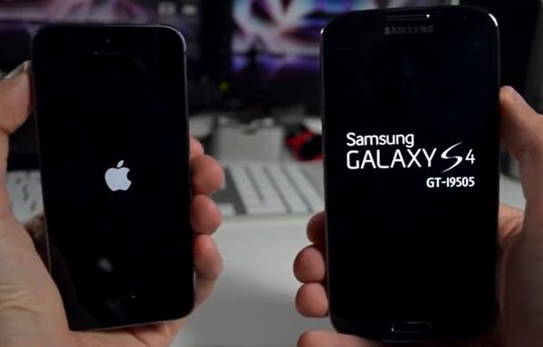iPhone 5s vs Samsung Galaxy s4 - Test Arranque