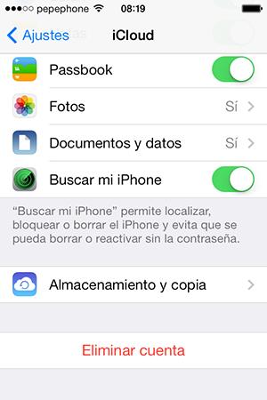 Configurar iCloud iOS 7