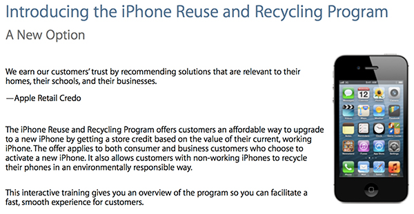 Programa de Cambio de iPhone iPad en Apple Store