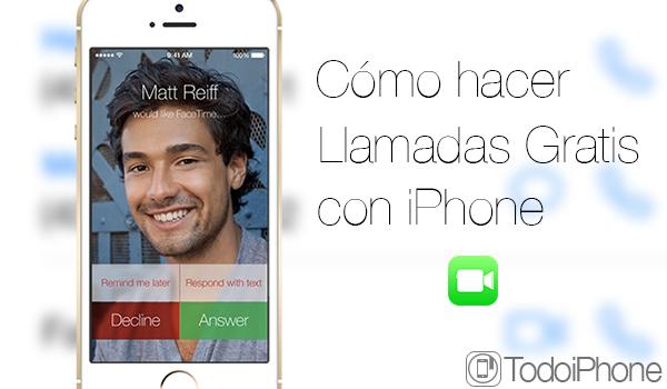 Hacer Llamadas Gratis iPhone