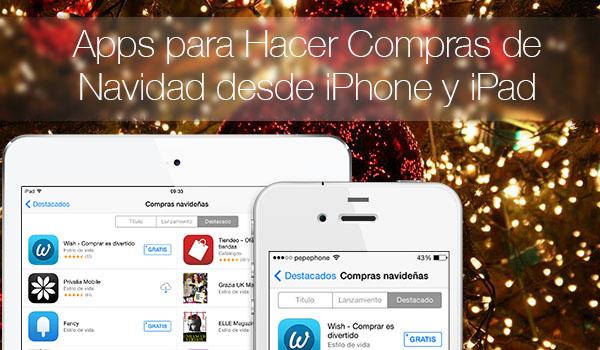 Apps Compras Navidad iPhone iPad