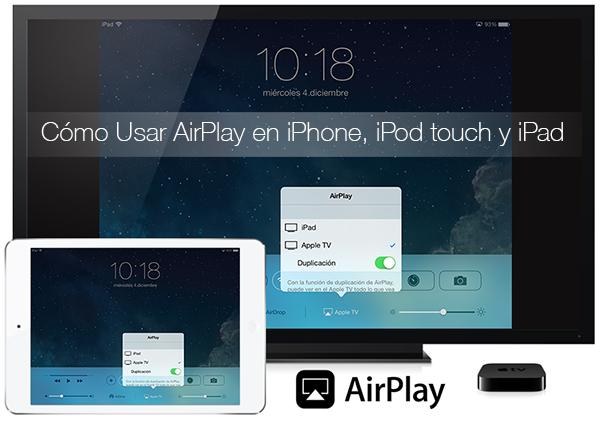 Como Usar AirPlay iPhone iPad