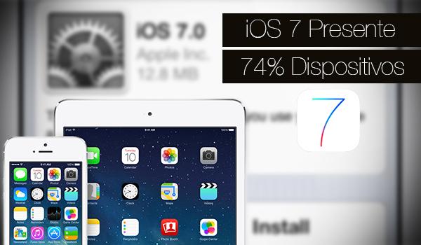 iOS 7 Disponible 74 Porciento iPhone iPad