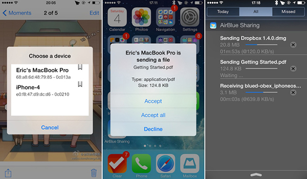 AirBlue-Sharing-iOS 7 iPhone iPad