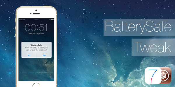 BatterySafe iOS 7 Tweak