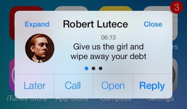 biteSMS 8 iOS7 - Mensajes