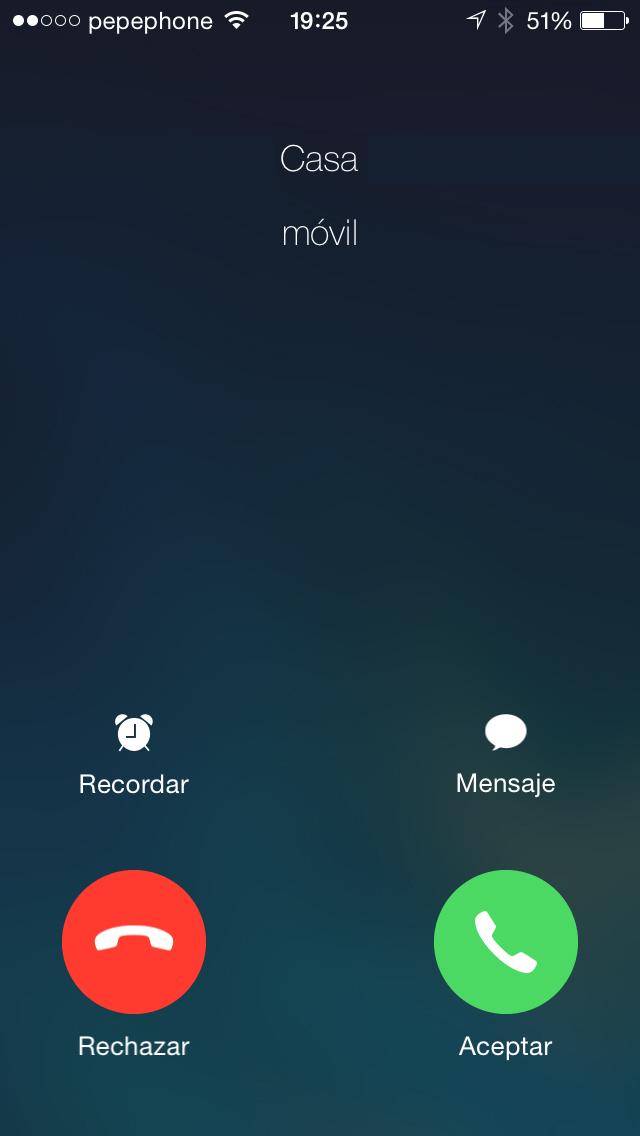 Llamadas iOS 7.1 - screenshot 1