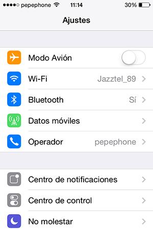 No Puedo Compartir Internet iPhone iOS 7.1 - screenshot 1