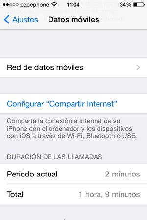 No Puedo Compartir Internet iPhone iOS 7.1 - screenshot 3