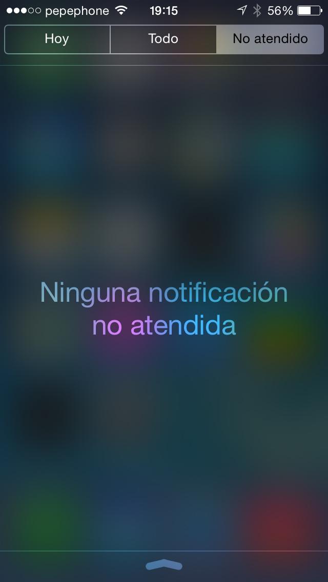 Notificaciones iOS 7.1 - screenshot 2