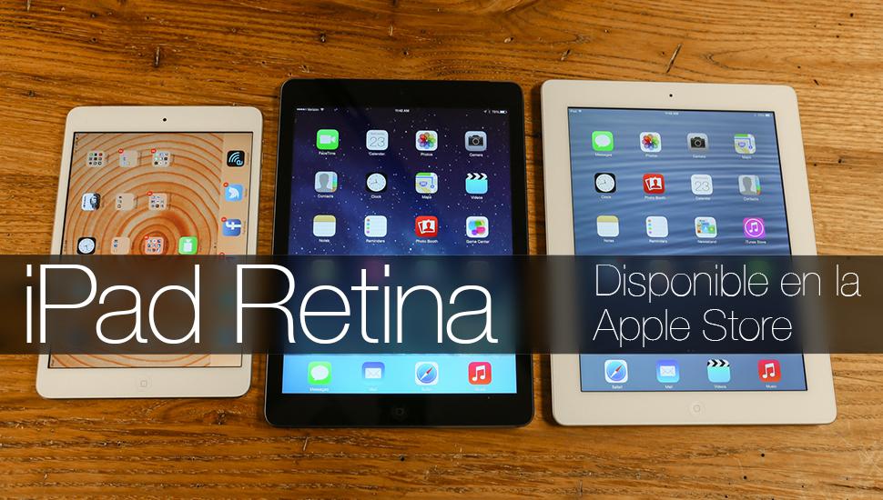 iPad Retina Disponible Apple Store