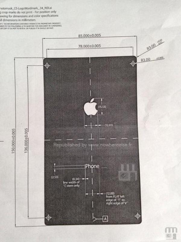 iPhone 6 - documento dimensiones