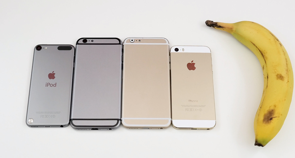 iPhone-6-maqueta-iphone-5s-ipod-platano