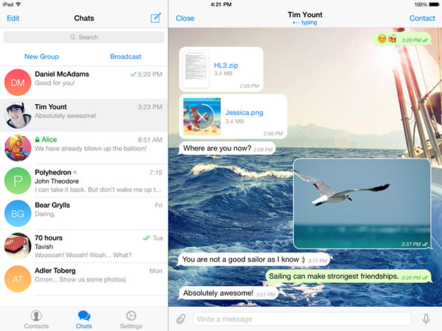 Telegram-HD-iPad