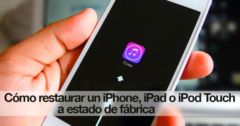 Cómo Restaurar Un Iphone Ipad Ipad Mini O Ipod Touch